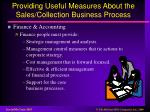 providing useful measures about the sales collection business process3