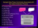 sample data flows commonly associated with the sales collection process