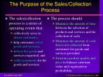the purpose of the sales collection process