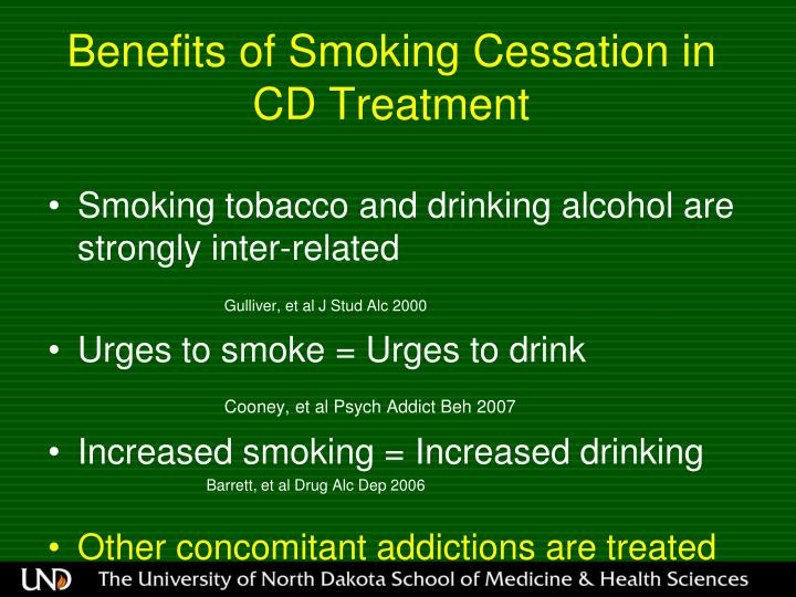 Benefits of Smoking Cessation in CD Treatment