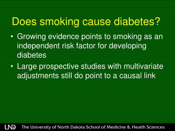 Does smoking cause diabetes?