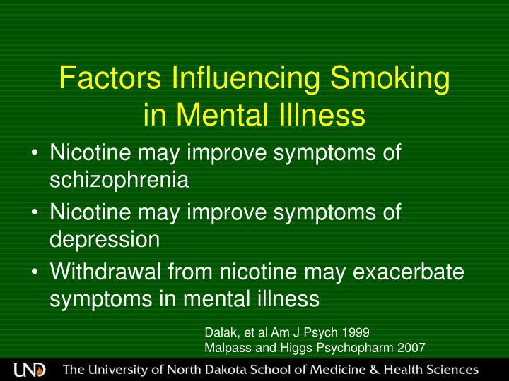 Factors Influencing Smoking
