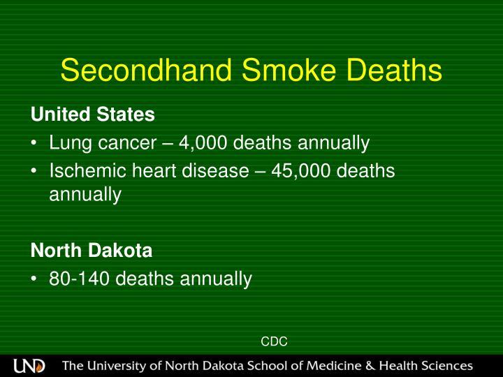 Secondhand Smoke Deaths
