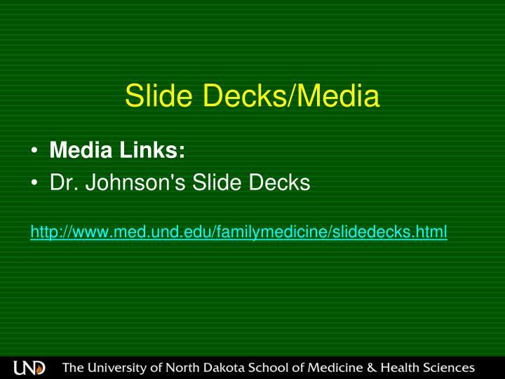 Slide Decks/Media