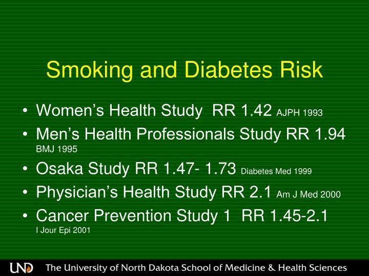 Smoking and Diabetes Risk
