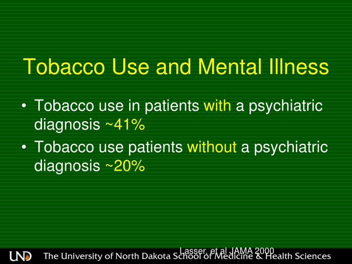 Tobacco Use and Mental Illness