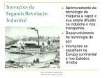 inova es da segunda revolu o industrial