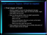 icm lecture topics what to expect