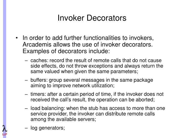 Invoker Decorators