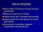 serum amylase