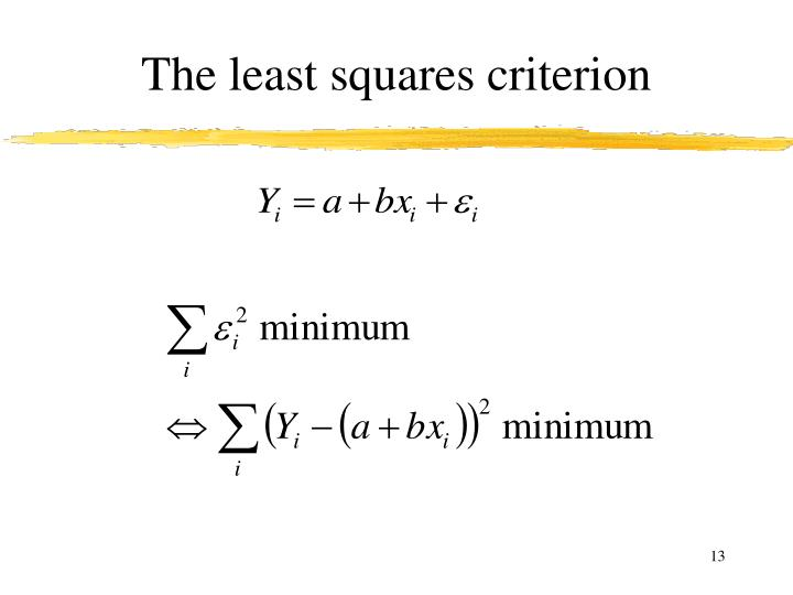 The least squares criterion