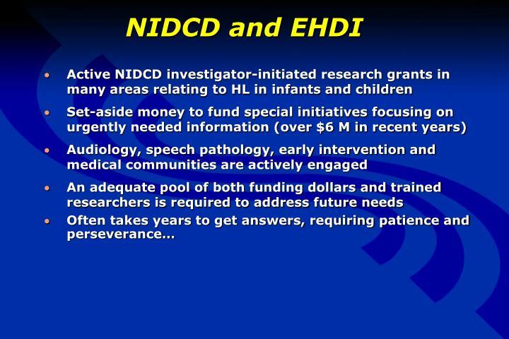 NIDCD and EHDI