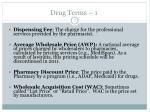 drug terms 1
