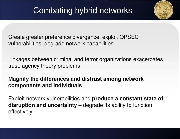 Combating hybrid networks