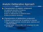 analytic deliberative approach