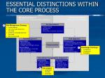 essential distinctions within the core process