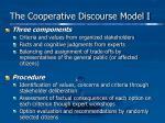 the cooperative discourse model i