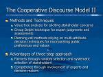 the cooperative discourse model ii
