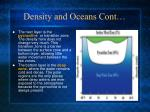 density and oceans cont
