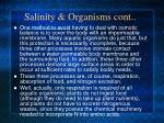 salinity organisms cont