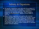 salinity organisms
