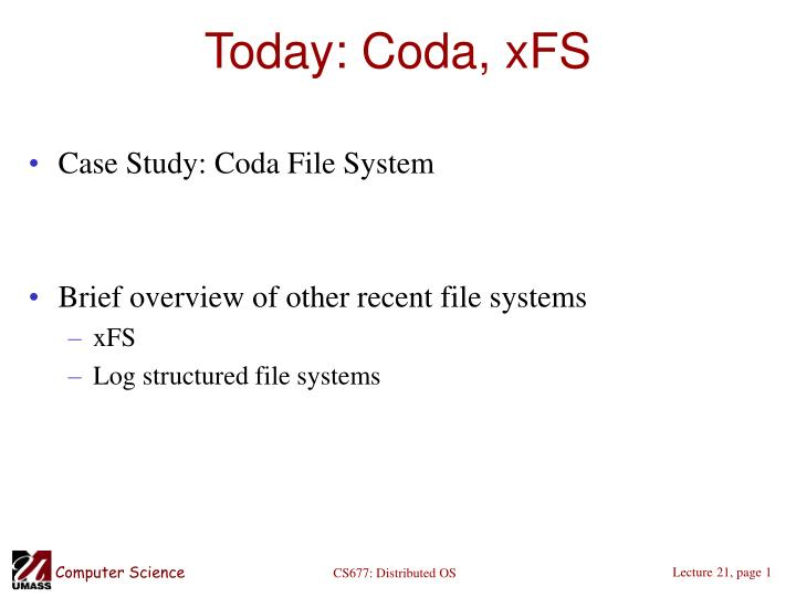 today coda xfs n.