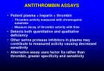 antithrombin assays