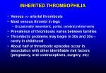 inherited thrombophilia