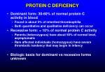 protein c deficency