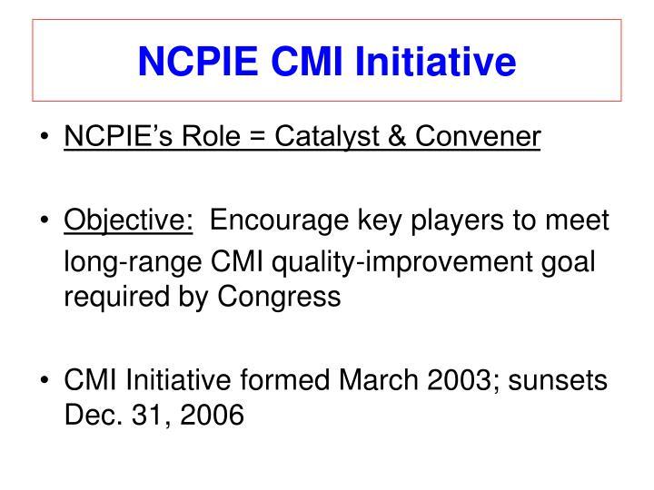 NCPIE CMI Initiative