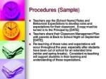 procedures sample