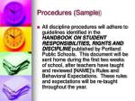 procedures sample2