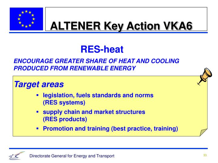ALTENER Key Action VKA6