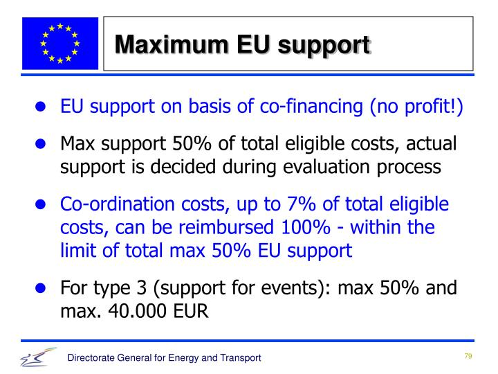 Maximum EU support