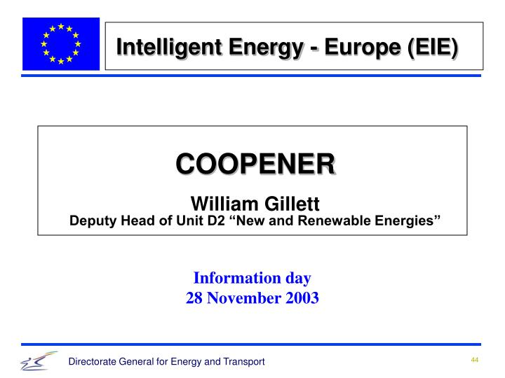 Intelligent Energy - Europe (EIE)