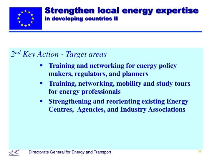 Strengthen local energy expertise