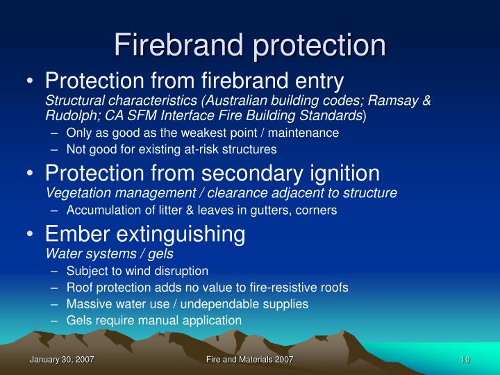 Firebrand protection