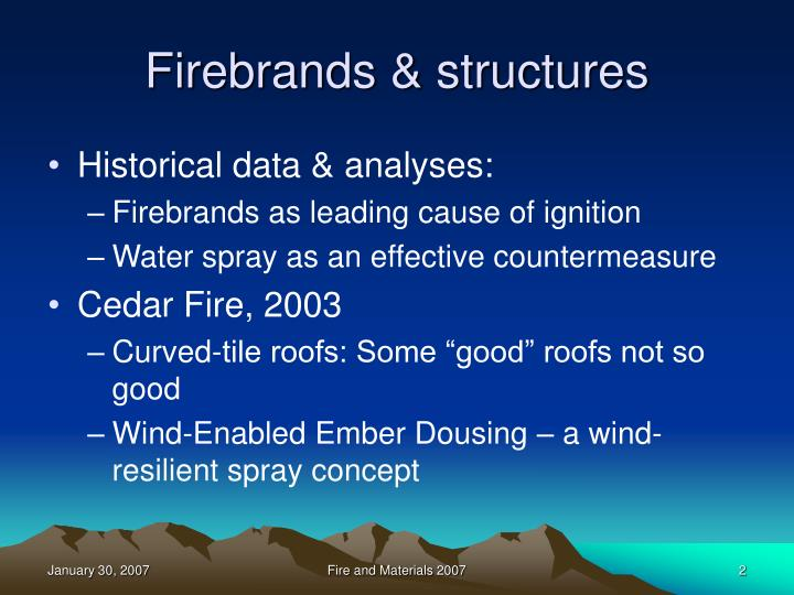 Firebrands structures
