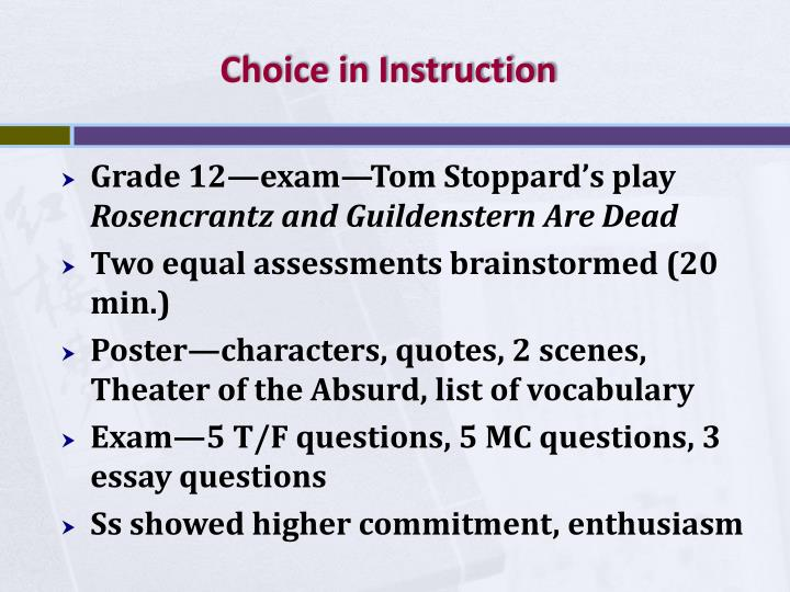 Choice in Instruction