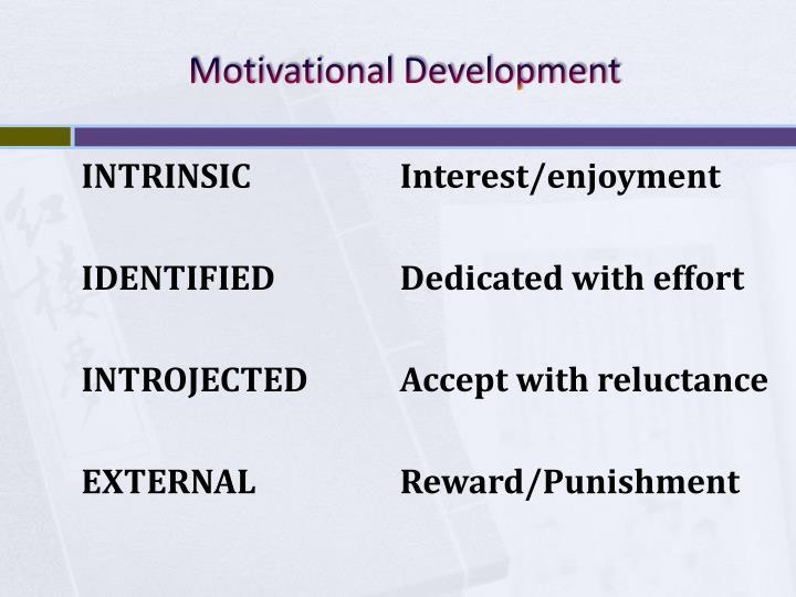 Motivational Development