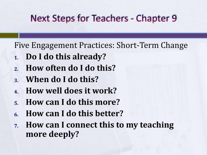 Next Steps for Teachers - Chapter 9