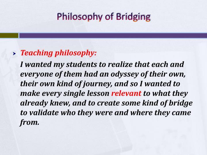 Philosophy of Bridging