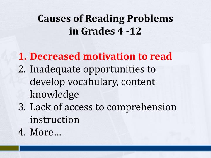 Causes of Reading Problems