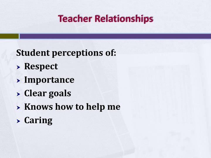 Teacher Relationships