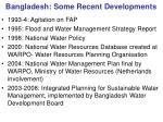bangladesh some recent developments