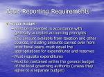 basic reporting requirements4