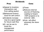 dividends pros cons