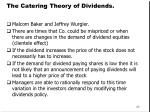 the catering theory of dividends