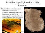 la evidencia geol gica sobre la vida temprana