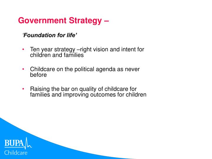 Government strategy